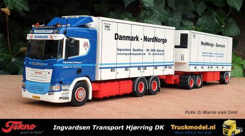 Tekno 75724 Ingvardsen DK Scania NG R500 Normal Cab koelcombi