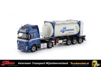 Tekno 76252 Overmeer Transport Volvo FH4 XL Tankcontainertrailer