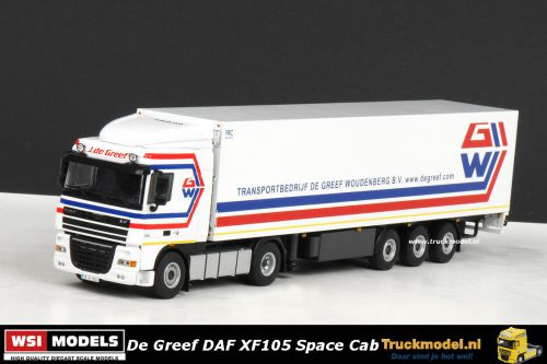WSI Models 9526 De Greef DAF XF 105 Space Cab koeloplegger