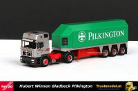 Herpa 144070 Hubert Winnen MAN F2000 XT Glastrailer Pilkington