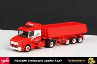 Herpa 145596 Monjean Transporte Scania T124 kippertrailer