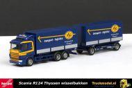 Herpa 145800 ASG Scania 124 wisselbakken combinatie