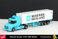 Herpa 148733 Maersk Sealand Scania T144 Reefer container oplegger