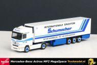 Herpa 150514 Schumacher Mercedes Actros MP2 LH MegaSpace koeloplegger