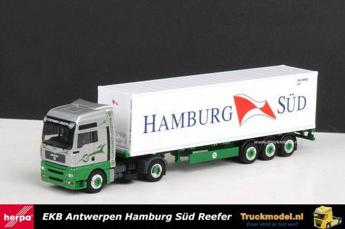 Herpa 150811 EKB Hamburg Sud MAN TGA XXL containertrailer