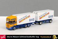 Herpa 152037 Sturm Maoam Scania R580 TL koelkoffer wisselbakken combinatie
