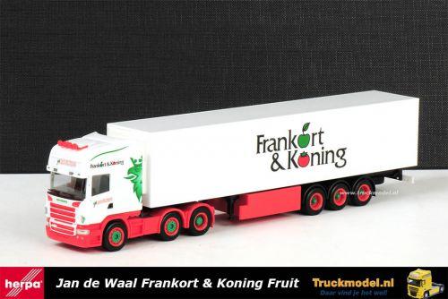 Herpa 154680 Jan de Waal Transport Scania R Topline koeltrailer