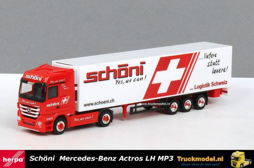 Herpa 155007 Schoni Transport AG Mercedes Actros LH MP3 Koeloplegger