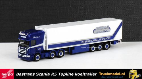 Herpa 156356 Bastrans Rijnsburg Scania R TL Koeltrailer