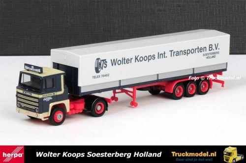 Herpa 158725 Wolter Koops Scania LB141 huifoplegger