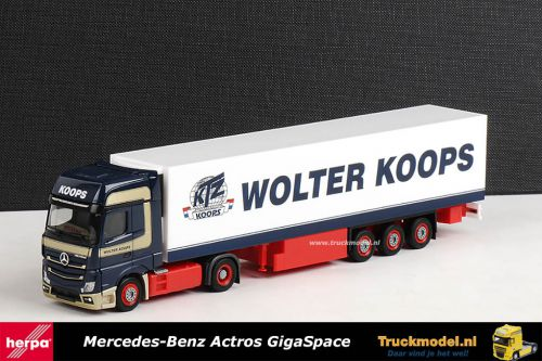 Herpa 159692 Wolter Koops Mercede Actros GigaSpace koeloplegger