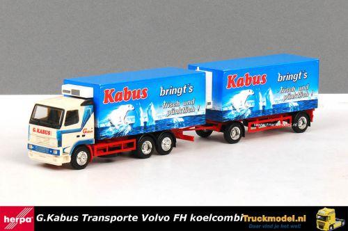 Herpa 185936 G.Kabus Volvo FH16 Koelcombinatie
