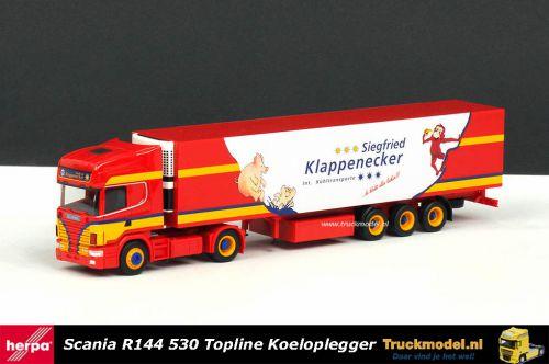 Herpa 242229 Siegfried Klappenecker Scania R144 koeltrailer