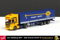 Herpa 243391 Jan Hallberg Helsingborg ERT ASG Scania huiftrailer