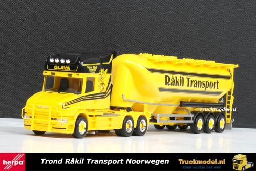Herpa 301206 Rakil Transport Scania T Topline 6x4 bukloplegger