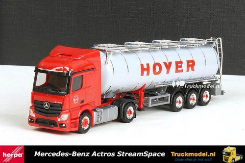 Herpa 301213 Hoyer Group Mercedes Actros ADR Tankoplegger