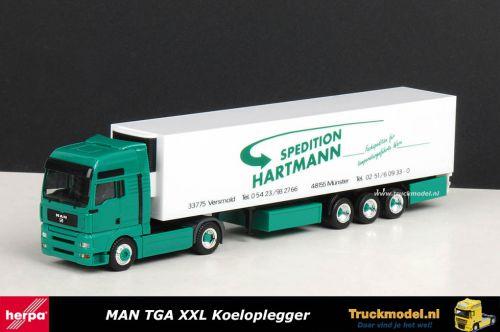 Herpa 250184 Spedition Hartmann MAN TGA XXL Koeltrailer