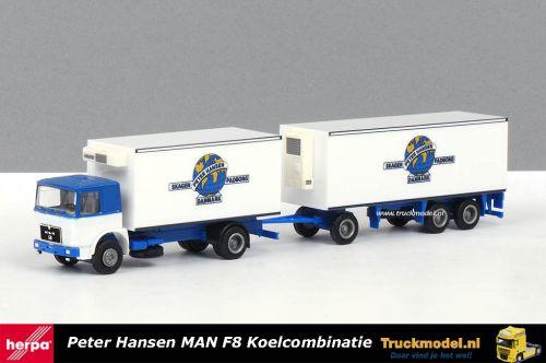 Herpa Peter Hansen Skagen Padborg MAN F8 koelkoffer combinatie