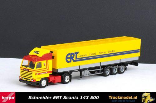 Herpa 175340 Schneider Spedition Lubeck ERT Scania 143