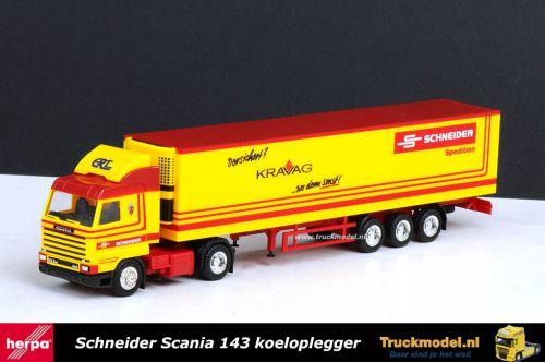 Herpa 175364 Schneider ERT Scania 143 koeloplegger