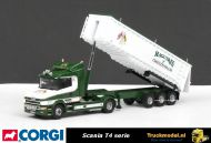 Corgi CC12803 Maquires of Cheltenham Scania T4 kippertrailer