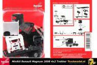 Herpa 013642 Minikit Renault Magnum 2008 4x2 trekker wit