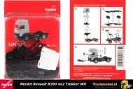 Herpa 013659 Minikit Renault R390 Hoogdak 4x2 trekker wit