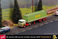Herpa 026000 Scania LB76 Gesloten oplegger Spedition Wandt