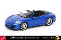 Herpa 070997 Porsche 911 Carrera S Cabriolet Blue metallic