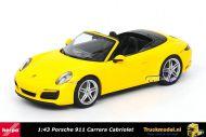 Herpa 071024 Porsche 911 Carrera Cabriolet Yellow