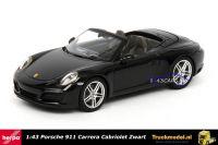 Herpa 071031 Porsche 911 Carrera Cabriolet Black