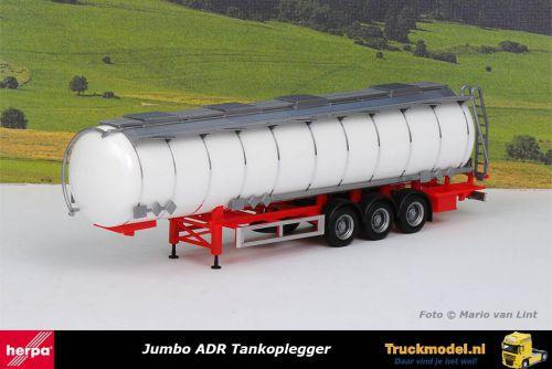 Herpa 075619-002 ADR Jumbo Tankoplegger rood chassis