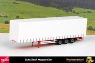 Herpa 075664 Schuifzeil megatrailer