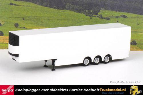 Herpa 076692 Koeloplegger met sideskirts Carrier koelunit