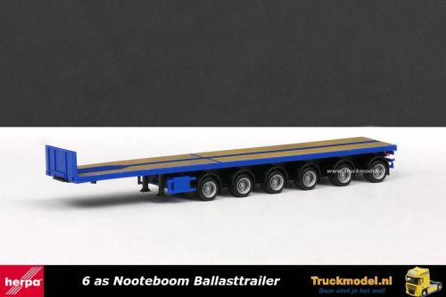 Herpa 076715-002 Nooteboom 6 as Ballasttrailer Blauw