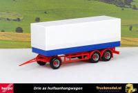 Herpa 076852 Drie as huifaanhangwagen rood blauw wit