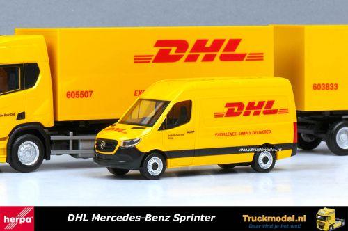 Herpa 094313 DHL Mercedes-Benz Sprinter hoogdak bestelwagen