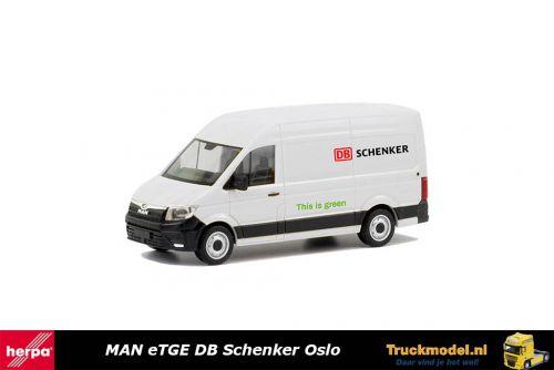 Herpa 095334 MAN eTGE Electrische bestelwagen DB Schenker Oslo