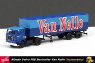 Herpa 116100 Albedo Van Nelle Gebr Koomen Wormer Volvo F88 boxtrailer
