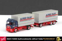 Herpa 143608 Alfred Talke Duitsland MAN F2000 huifcombinatie