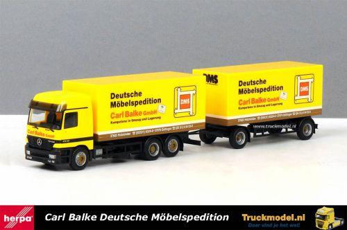 Herpa 144568 Carl Balke DMS Mercedes Actros kasten combinatie
