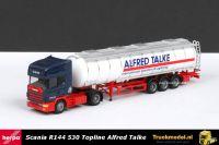 Herpa 144759 Alfred Talke Duitsland Scania R144 530 Topline Jumbotankoplegger