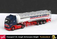 Herpa 145350 Talke De Jongh Volvo FH16 Globetrotter XL Chroom Jumbotankoplegger