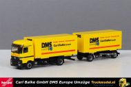 Herpa 145947 Carl Balke GmbH DMS Umzüge Mercedes wisselkoffer combinatie