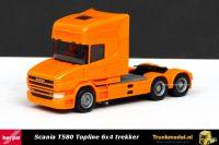 Herpa 151726-006 Scania T580 Topline 6x4 trekker Oranje