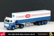 Herpa 157872 Dijco Van Dijk Delft Scania LB 141 Koeloplegger