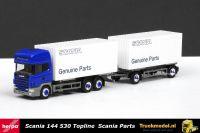 Herpa 1593149 Scania Parts Scania 144-530 Topline wisselkoffer combi + Chauffeur