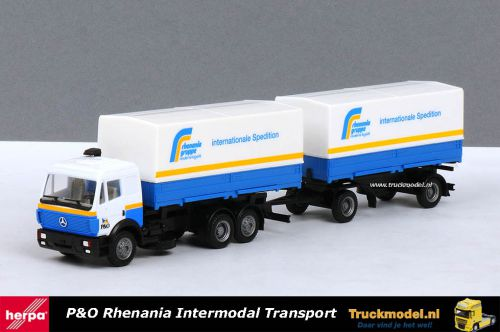 Herpa 162319 Rhenania Gruppe Intermodal Transport Mercedes SK wisselbakken combi