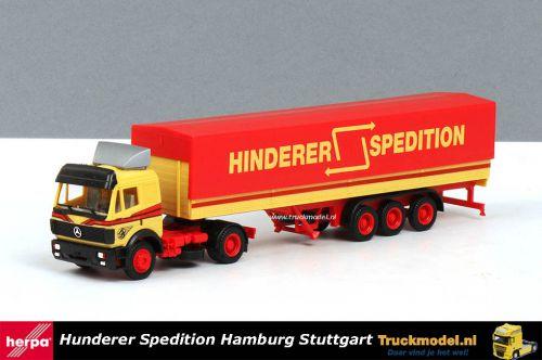 Herpa 166812 Hinderer Spedition Hamburg Mercedes-Benz SK huifoplegger