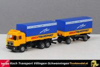 Herpa 168052 Koch Transport MAN F90 huif wisselbakken combinatie